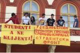 Studentski front zauzeo zgradu Rektorata Beogradskog univerziteta