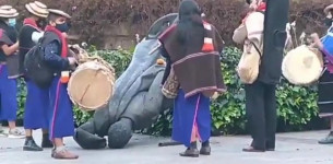 Kolumbijski domoroci srušili spomenik španskog kolonizatora Gonsala Himenesa