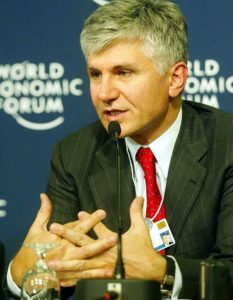 """Zoran Đinđić, Davos"" by World Economic Forum from Cologny, Switzerland - World Economic Forum Annual Meeting Davos 2003. Licensed under CC BY-SA 2.0 via Wikimedia Commons - https://commons.wikimedia.org/wiki/File:Zoran_%C4%90in%C4%91i%C4%87,_Davos.jpg#/media/File:Zoran_%C4%90in%C4%91i%C4%87,_Davos.jpg"