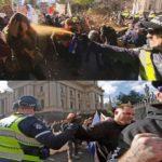 Policija prska anti-fašiste biber sprejem a rukuje sa fašistima