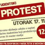 Najavljen protest na Filozofskom fakultetu u Novom Sadu u utorak