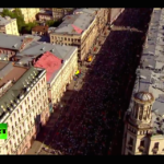 """Vazdušni snimak marša """"Besmrtnog puka"""" u centru Moskve (VIDEO)"""